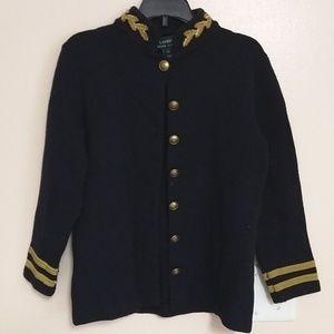 Ralph Lauren 100% Merino wool navy cardigan